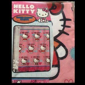 New Hello Kitty Fluttering Hearts Shower Curtain